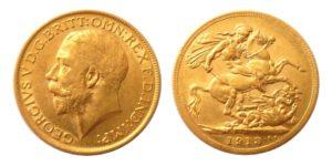 Sovereign 1913 Anglie král George V. - Nádherný