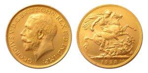 Sovereign 1928 SA král George V. Jižní Afrika - Nádherný