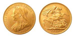 Sovereign 1900 London Královna Victoria - Nádherný