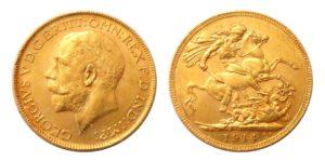 Sovereign 1914 P král George V. Australie - Nádherný