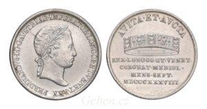Ferdinand V. Menší žeton 1838 M - Nádherný a vzácný