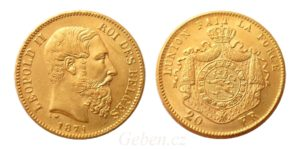 20 Frank 1871 Leopold II.