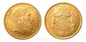 20 Frank 1876 Leopold II.