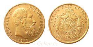 20 Frank 1878 Leopold II.