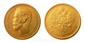 5 RUBLŮ 1898 АГ Mikuláš II.