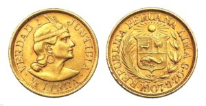 1/2 LIBRA 1907 Peru INDIAN - Vzácná ! R