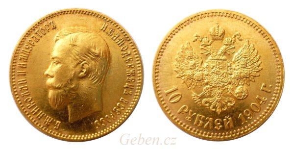 10 RUBL 1904 ! Mikuláš II. - Vzácný a nádherný
