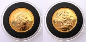 1 Sovereign / LIBRA - Elizabeth II. PROOF Cameo - Velmi vzácné 2001 !