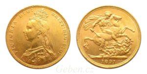 Sovereign 1891 London - Královna Victoria