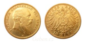 10 Mark 1902 G Friedrich I. 1856-1907 BADEN