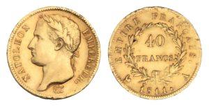 Zlatý 40 Frank 1811 A - NAPOLEON ! Vzácný