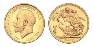 ZLATÝ Sovereign 1912 Melbourne Král Jiří – Nádherný