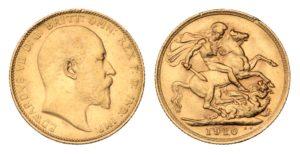 Sovereign 1910 Melbourne - Král EDWARD