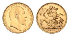 Sovereign 1907 Melbourne - Král EDWARD