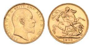 ZLATÝ Sovereign 1903 Melbourne - Král EDWARD