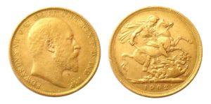 ZLATÝ Sovereign 1902 Melbourne - Král EDWARD