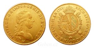 Vzácné zlaté Sovráno - Souverain d'or 1788 M ! Josef II.